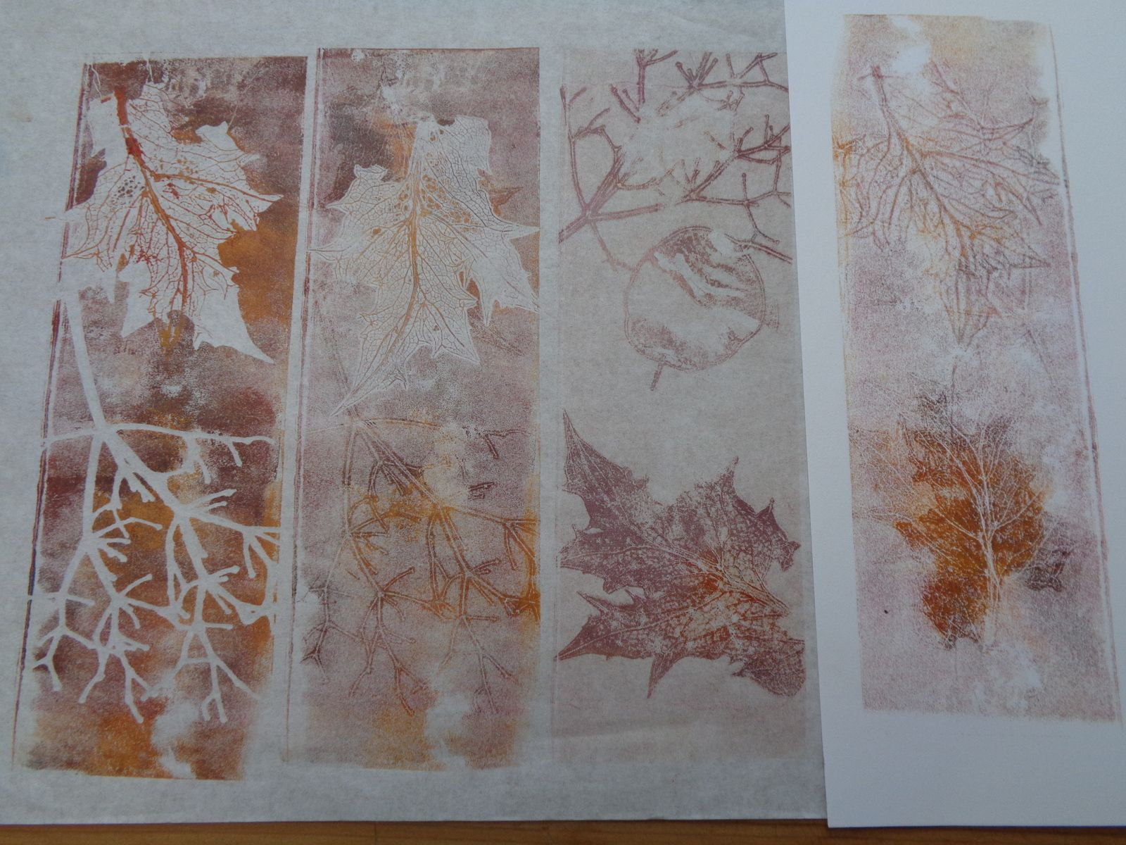 stages papier , monotype, lino