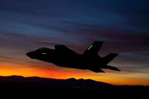 Photo : © Lockheed Martin - Vol de nuit d'un F-35A