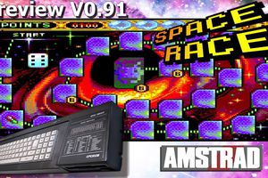 Amstrad CPC - Live / Let's Play - Space Race (Quiz Retrogaming / Preview V0.91)