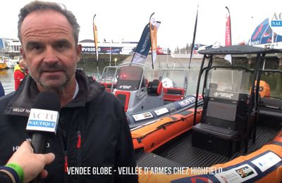 Vendée Globe 2020 - veillée d'armes chez Highfield