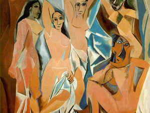 Les Demoiselles d'Avignon 1906 - (244X234cm) huile sur toile - Guernica 1937 (349x777cm) huile sur toile