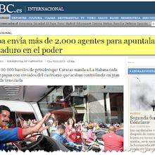 El triste rol de ABC de España contra Cuba y Venezuela