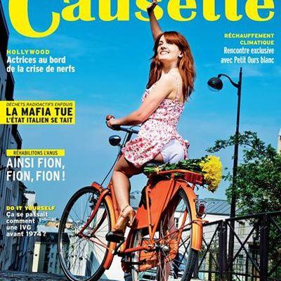 La une de Causette, le vélo, l'anus