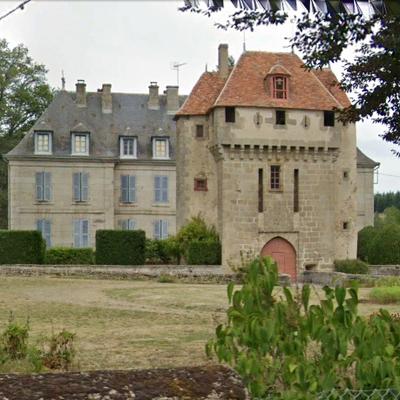 Le château de la Dauge à Ladapeyre (23700), activé le 16 mai 2021 pour la Journée Nationale des Châteaux. Référence DFCF 23-024.