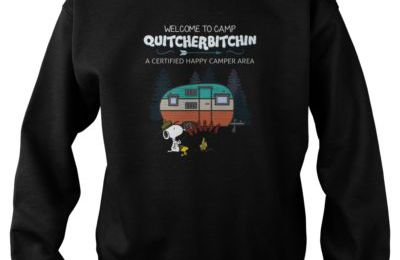 Welcome To Camp Quitcherbitchin A Certified Happy Camper Area T=Shirt