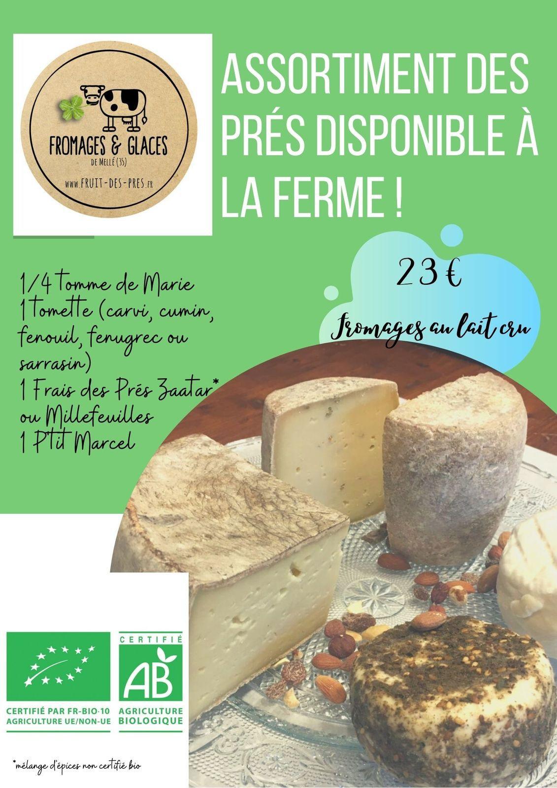 """Nos produits et leurs prix: gammes """"Fruit des Prés"""" et """"Glace des Prés"""""""