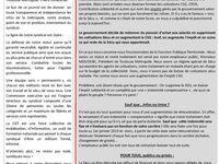 Journal n°1 CGT : STATUT EN DANGER, IL FAUT LUTTER