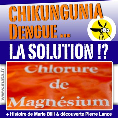 CHIKUNGUNYA, DENGUE, ... LA SOLUTION, C'EST LE CHLORURE DE MAGNESIUM (!?). POLYNESIE, CALEDONIE, INFORMEZ VOUS !!! Cela vous sera peut être utile... / + présentation: Marie Billi et Pierre Lance.