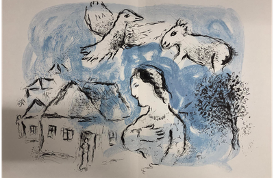 Poème en mars  :AU VILLAGE DE CHAGALL – Rose Ausländer ( 1901 – 1988)