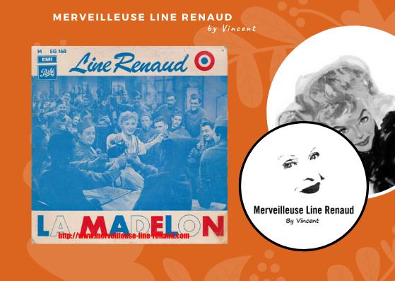 45 TOURS: 1955 Pathé - 45 EG 168 - Line Renaud La Madelon (4e edition)