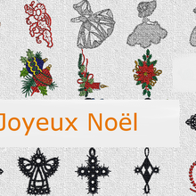 Broderies Noël machine: Sunbonnets lace, ange...