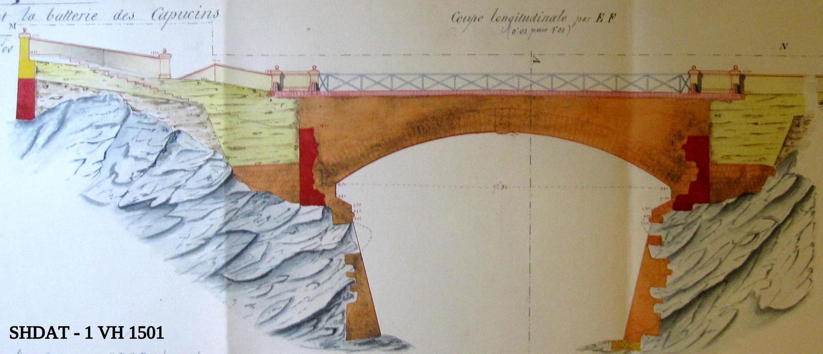 Projet d'achèvement du pont en juin 1862 (© Service historique de la Défense)
