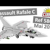 Cobi 5802 Test #06 : Dassault Rafale C, avion de combat moderne (Speed Review FR 2020)