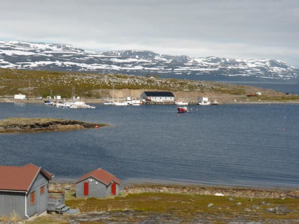 la route longe les fjords, nous dévoilant de magnifiques paysages avec le soleil...