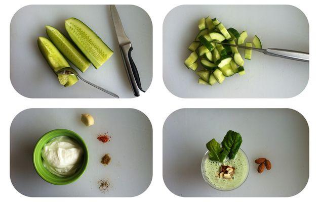 Velouté glacé au concombre