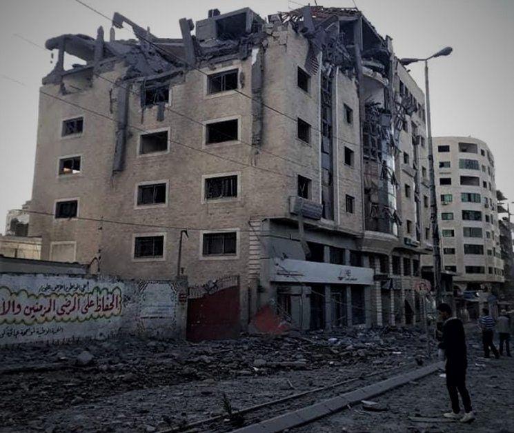 L'immeuble abritant Filastiniyat a été bombardé