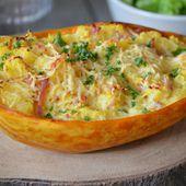 Courge spaghetti gratinée au four et pré-cuisson au cookeo - Le blog de C'est Nathalie qui cuisine