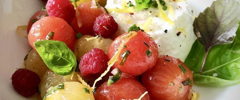 Salade de tomates-framboises à la faisselle - Battle Food #63