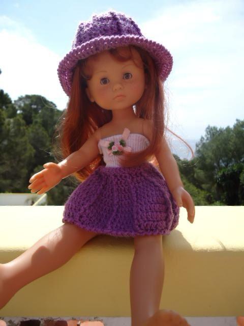 Jupe et chapeau de jardin au crochet