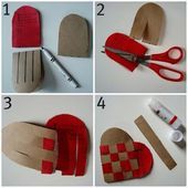 un cuore in feltro con la tecnica degli origami - per la bomboniera - Blog di iltelaiopovolaro.over-blog.it