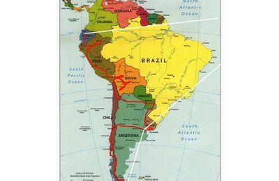 Notre itinéraire prévisionnel en Amérique du Sud