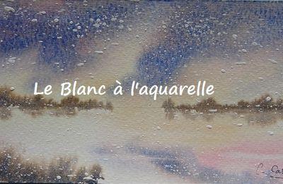 Blanc et aquarelle