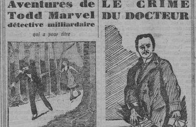 """J.-H. Rosny aîné """"Le Crime du Docteur"""" in L'Echo d'Alger (1928)"""
