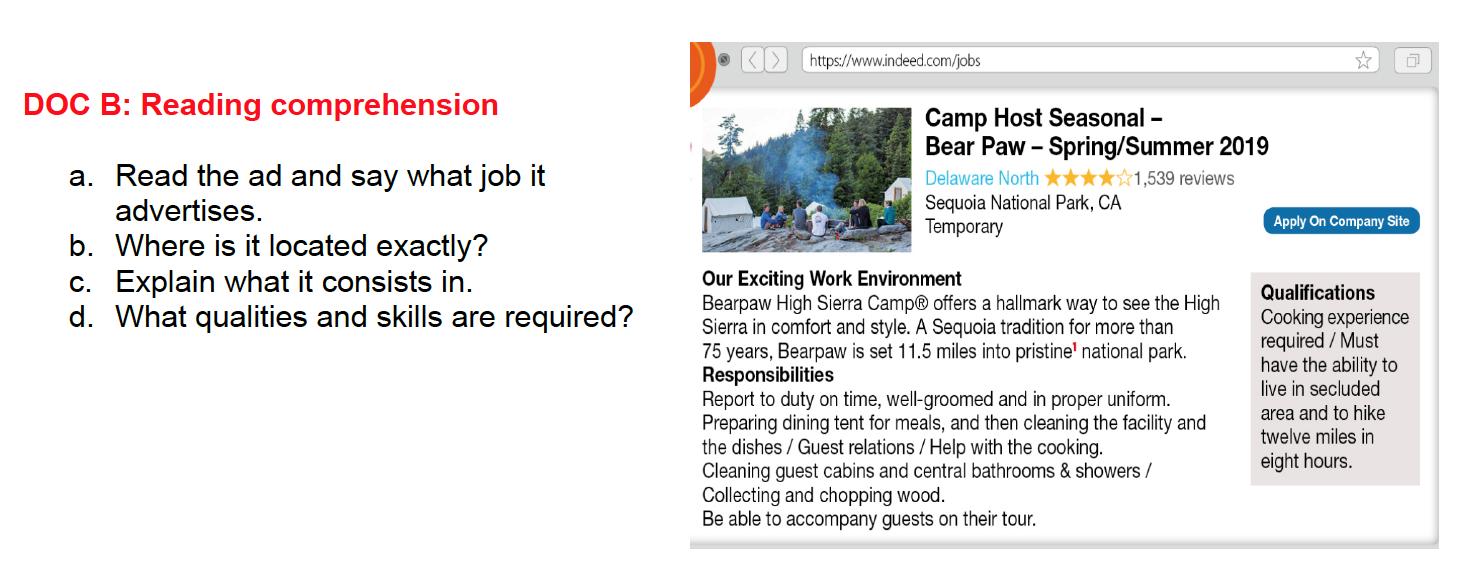 CALIFORNIA DREAM JOBS
