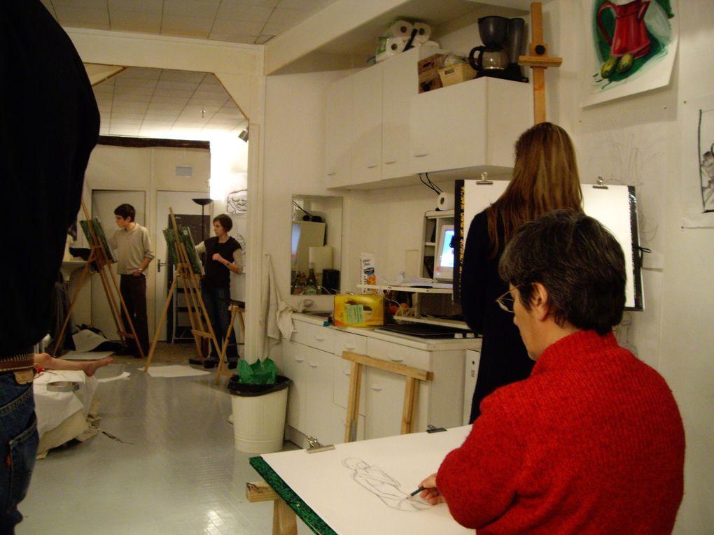 divers photos de l'atelier du Studio Célanie 2009.