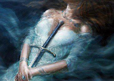 Le reflet de la dame du lac