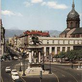 Place de Jaude à Clermont Ferrand années 50-60 - L'Auvergne Vue par Papou Poustache