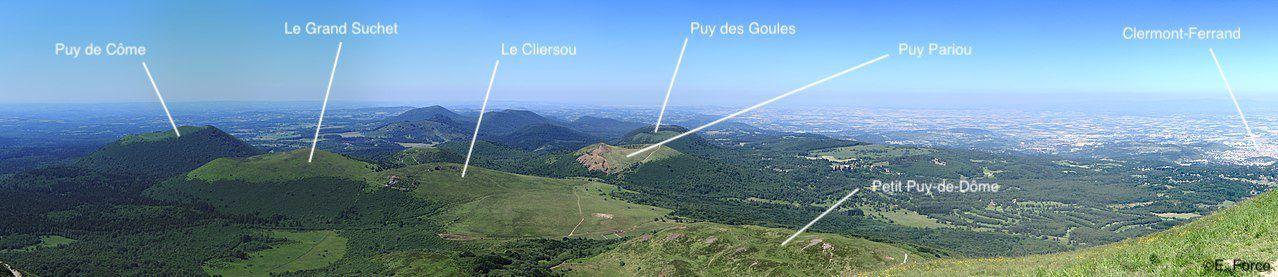 Figure 1. Vue nord du Puy-de-Dôme (crédit photo : E. Force & Thesupermat).