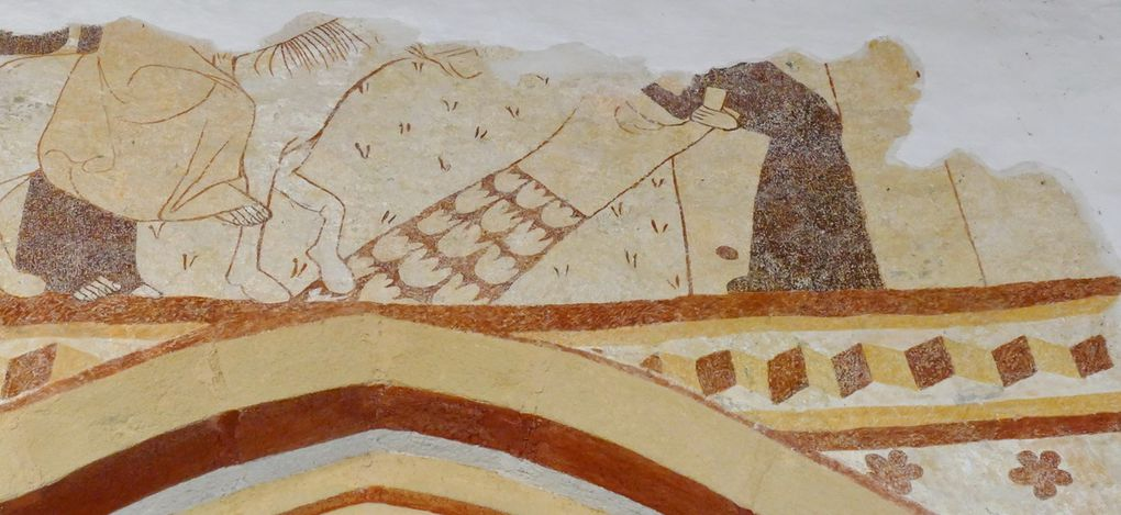 Entrée de Jésus dans Jérusalem, chapelle nord, Chapelle de Locmaria er Hoët, Landévant. Photographie lavieb-aile.