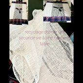 #recyclage :donner une seconde vie à une vieille nappe de table/old fabric tablecloth