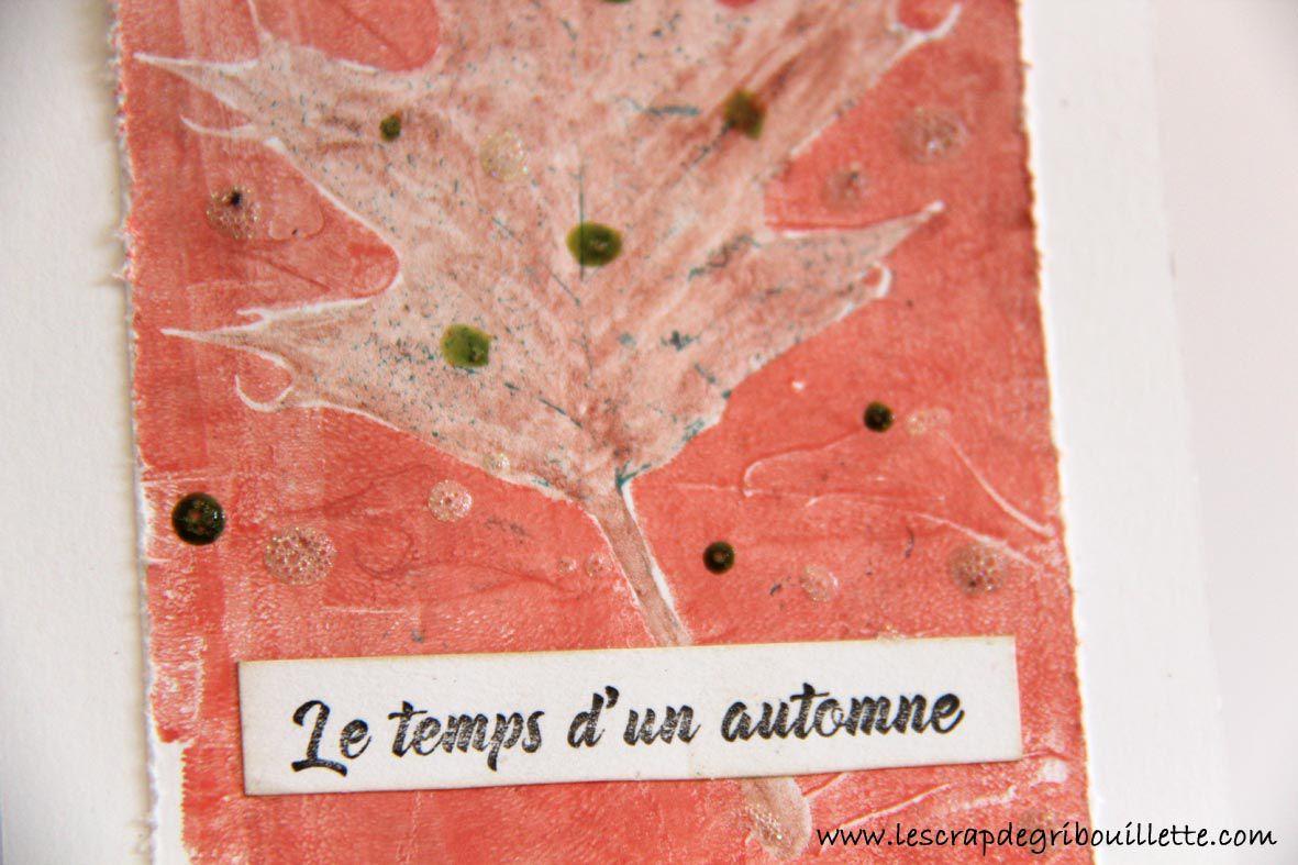 Carte-Automne-Feuilles-Mixed Media-Gel Press
