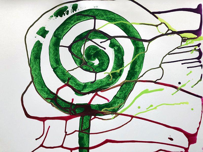 Mireille Vincent - 2 évolutions à partir du point 25 de la peinture en 9 mois