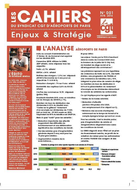 Enjeux et stratégies  n°01