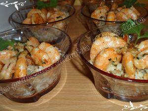 Crevettes grillées et riz Thaï au lait de coco