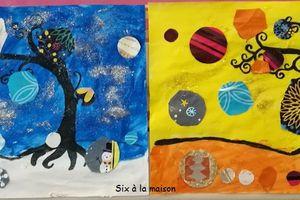 Rond en observant les oeuvres de Natasha Wescaot - Projet enfant 2017