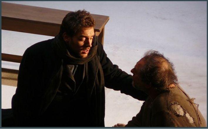 Guillaume Andrieux (Le poète) et Didier Henry (Le vagabond)