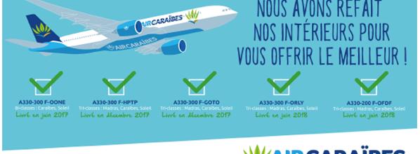 Air Caraïbes a modernisé 100% de sa flotte a330