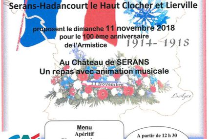 Célébration du centenaire de l'armistice de la première guerre mondiale