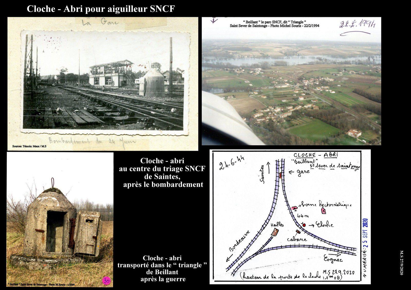 27 - Histoire de la cloche - abri.... de Saintes à St Sever de Saintonge