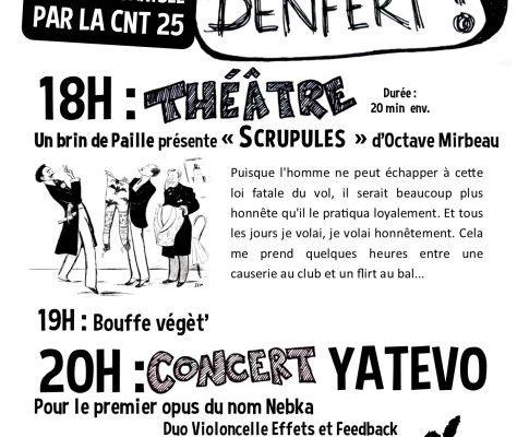 #Besançon : soirée de soutien au squat Denfert - Samedi 24 mars