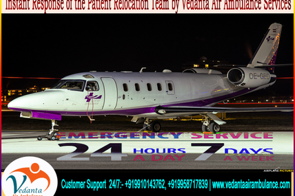 Recently Patient being Transferred for ECMO by Vedanta Air Ambulance from Jamshedpur to Vellore