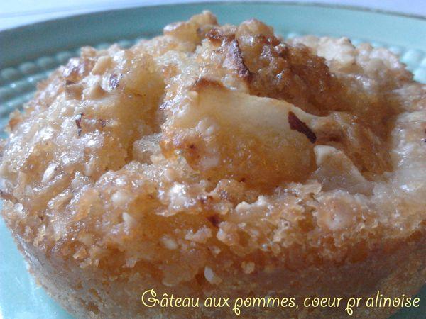 Petits gâteaux à la pomme, cœur pralinoise