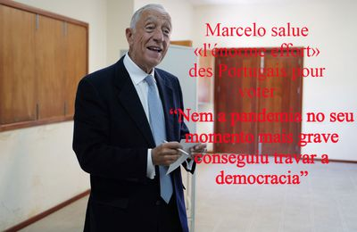 Marcelo salue «l'énorme effort» des Portugais pour voter