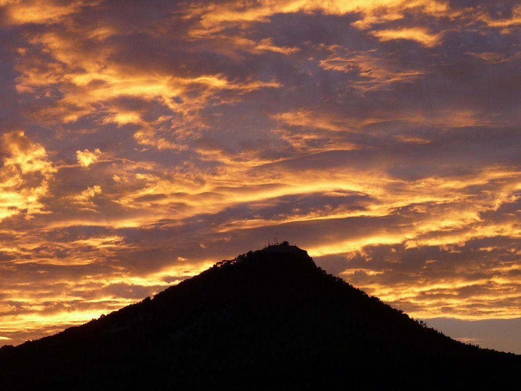 Couleurs du ciel sur le mont Faron le 12 aout 2008