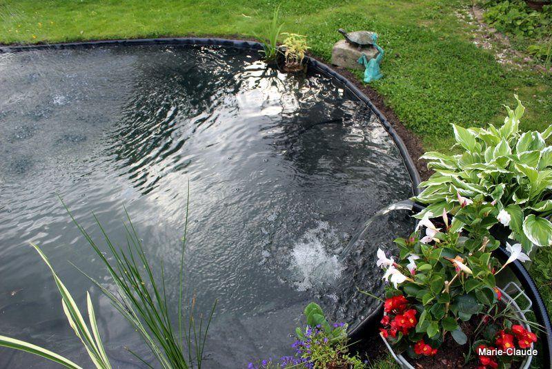 Les étapes de l'installation du bassin,