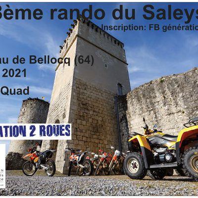 8 ème rando du Saleys moto-quad de Génération 2 roues le 16 mai 2021 à Bellocq (64)